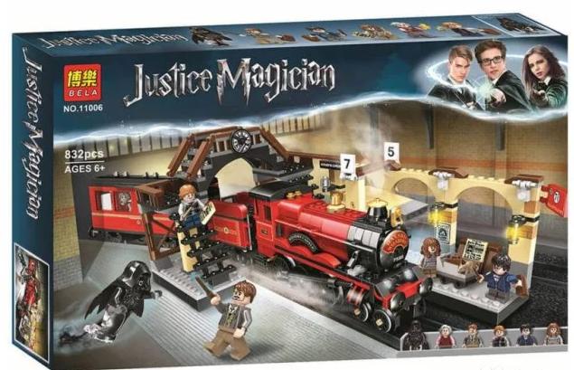 Конструктор Lele Justice Magician Harry Potter 11006 Хогвартс-экспресс 836 деталей