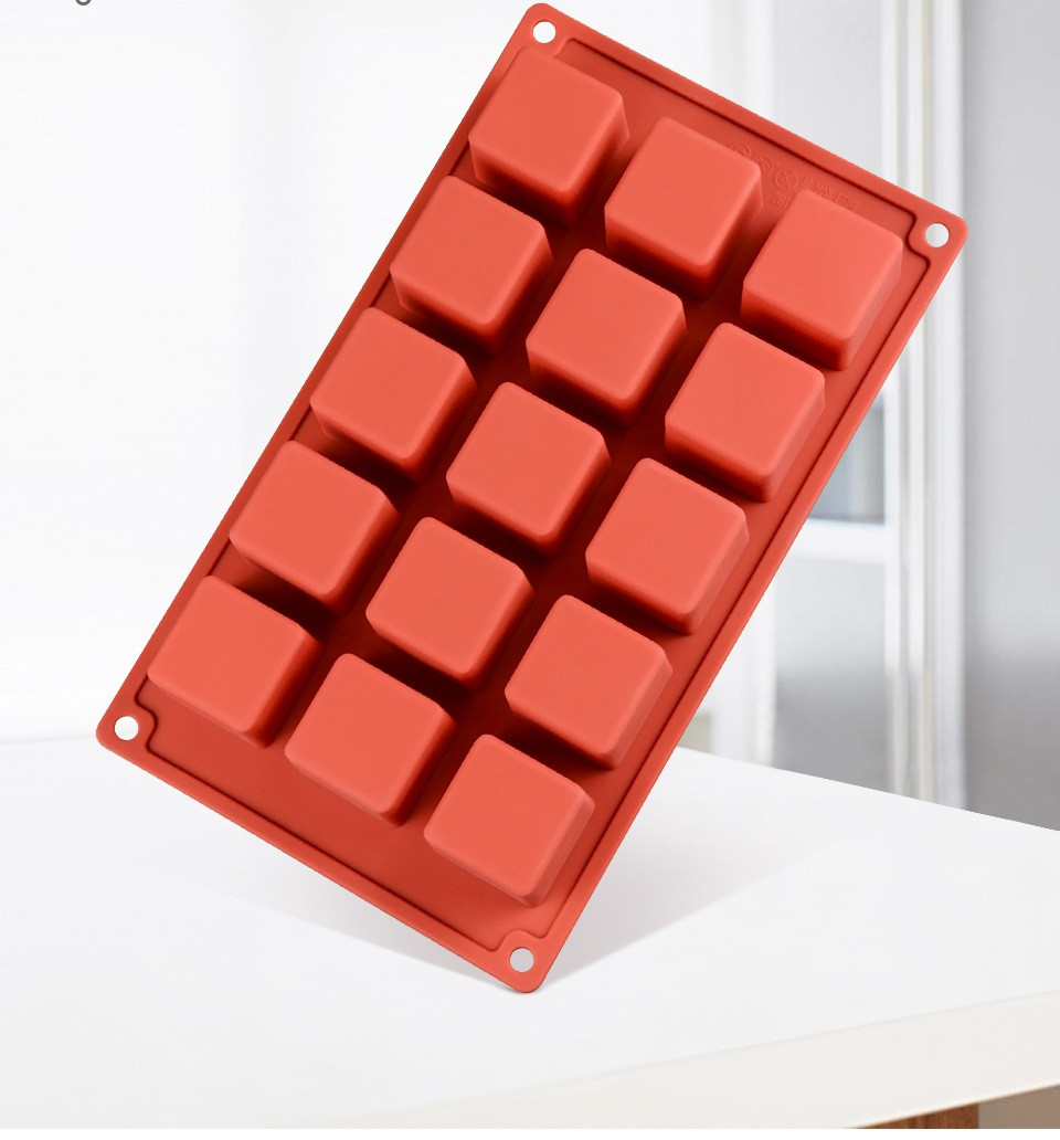 Силиконовая форма для десертов Cube 15 шт