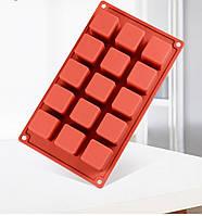 Силиконовая форма для десертов Cube 15 шт, фото 1