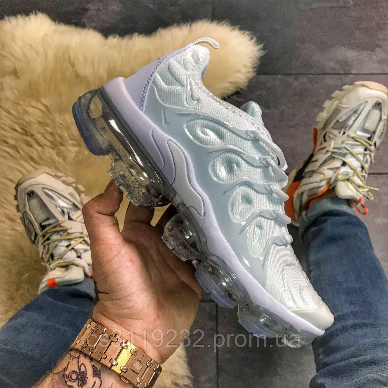 Мужские кроссовки Nike VaporMax Plus Triple White (белый)