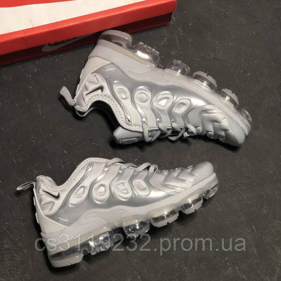 Мужские кроссовки Nike Vapormax Plus Silver (серебро)