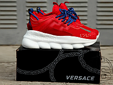 Женские кроссовки Versace Chain Reaction 2 Chainz Red DSU7071 D7CTG D65, фото 2