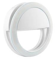 Подсветка для телефона селфи-кольцо SmartTech XJ-01 (от батареек) White