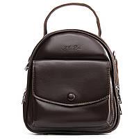 Женский рюкзак -сумка кожаный 20*23*12 коричневый, фото 1