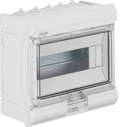 Щит пылевлагостойкий 6 модулей IP65 Hager VECTOR VE106DN, фото 2
