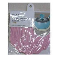 """Подставка под горячее """"Капуста"""" R84578, диаметр 15.5см, ПВХ, наборе 2 шт, цвета ассорти, подставка для горячего, набор подставок под горячее"""