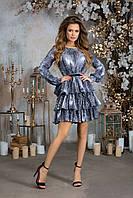 Женское платье софт серое коричневое 42 44 46