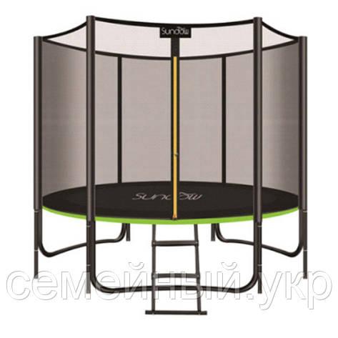 Детский батут с защитной сеткой лестницей и ножками. До 180 кг. Диаметр: 244 см. Высота: 150 см. MS 2920-2, фото 2
