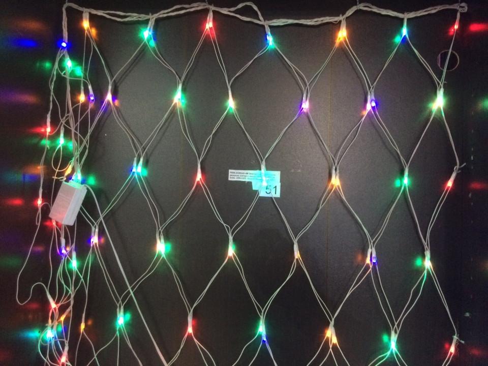Светодиодная гирлянда сетка  120 Led (1.5 *1.2 м.) синяя,мультицвет