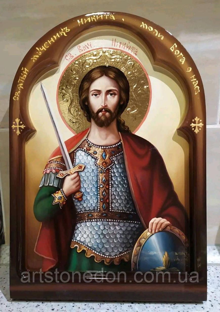Икона писаная Святой мученик Никита Воин