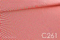 Ткань сатин Полоска красная 4 мм, фото 1