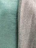 Шарф палантин однотонный двухсторонний, шерсть и кашемир, зеленого цвета, фото 3