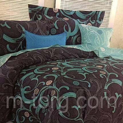 Комплект постельного белья двуспальный 180/220,простынь 200/220,нав-ки 70/70,ткань сатин 100% хлопок, фото 2