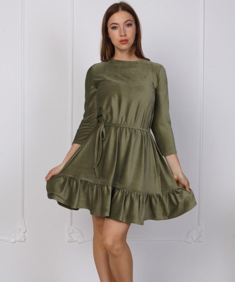Велюровое платье в рубчик.Разные цвета