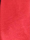 Шарф палантин однотонный двухсторонний, шерсть и кашемир, красного и черного цвета, фото 3
