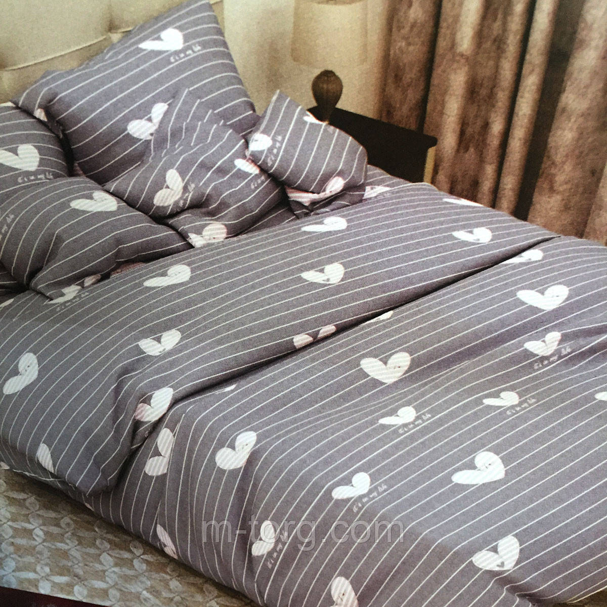 Комплект постельного белья двуспальный 180/220,простынь 200/220,нав-ки 70/70,ткань сатин 100% хлопок