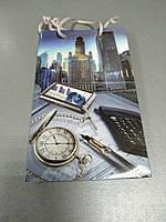 Пакет бумажный подарочный 11*18*5 см