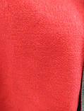 Шарф палантин однотонный двухсторонний, шерсть и кашемир, красного и серого цветов, фото 4