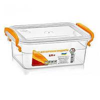 Контейнер пластиковый для пищевых продуктов с ручками NP-56 объем 950мл, прямоугольный, 12х17.6х7.5см, посуда, кухонные аксессуары, пищевые контейнеры
