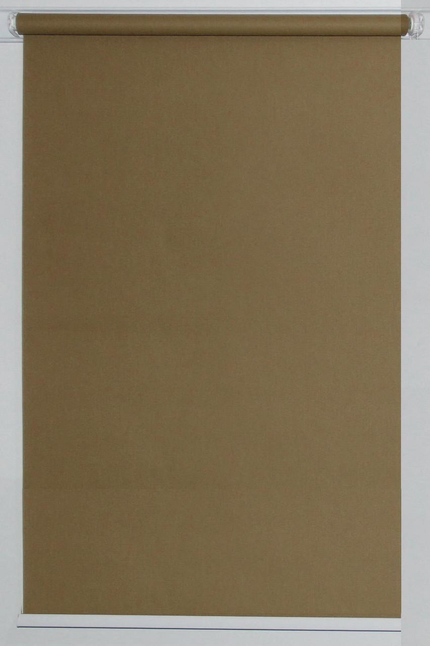 Готовые рулонные шторы Ткань Однотонная А-633 Маккофе