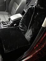 Накидка на сиденье из овчины 130х50см, черный
