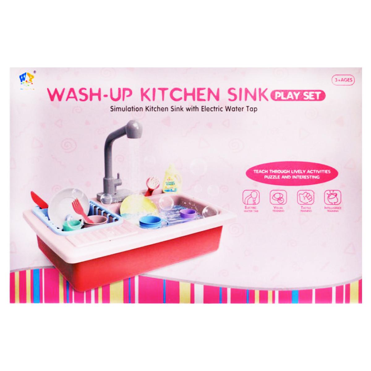 Детская кухонная раковина с набором посуды