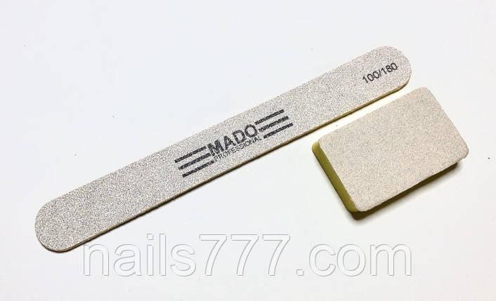 Набор Пилка+бафф  для ногтей  Mado одноразовые 100/180 грит, фото 2