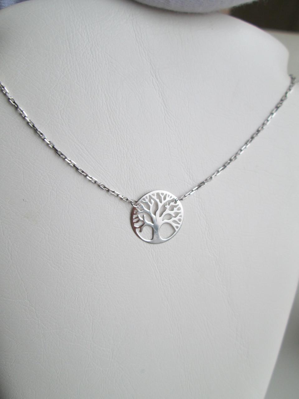 Родированное серебряное колье  006