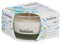 Свеча ароматическая в стекле белый чай и листья мяты Bolsius (36022 IBE)