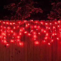 Гирлянда Бахрома Уличная 124 LED Premium Iceclude IP44 для украшения интерьеров и фасадов, цвет красный