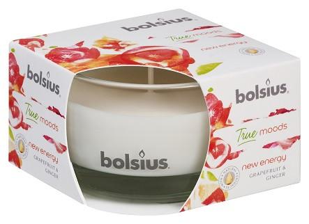Свеча ароматическая в стекле грейпфрут и имбирь Bolsius (36046 NEY)
