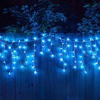 Гирлянда Бахрома Уличная 124 LED Premium Iceclude IP44 для украшения интерьеров и фасадов, цвет синий