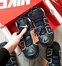 Зимние мужские кроссовки Nike Air More Uptempo с мехом, фото 3