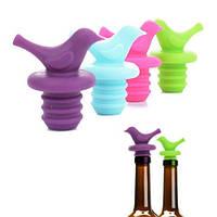 """Пробка для бутылки """"Птичка"""" R86767 силикон, разные цвета, барные аксессуары, посуда кухонная и аксессуары, пробку, гейзер, посуда,"""