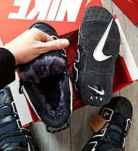 Зимние мужские кроссовки Nike Air More Uptempo с мехом, фото 2