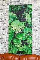 """Картина на холсте """"Листья папоротников. Природа"""". 100х45 см."""