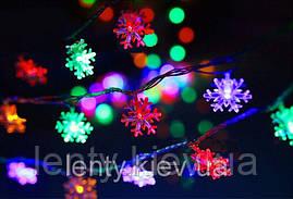 """Новогодняя светящаяся гирлянда """"Снежинки"""""""