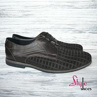 Мужские туфли из качественной натуральной замши