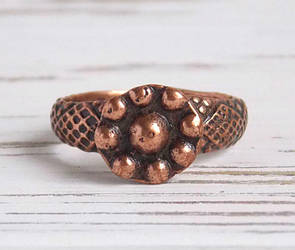 Кольцо славянское медное Ильинское