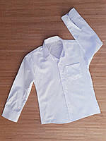 Белая школьная рубашка трансформер для мальчика 5-8 лет. Турция. Оптом