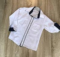 Белая школьная рубашка трансформер для мальчика 7-10 лет. Турция. Оптом