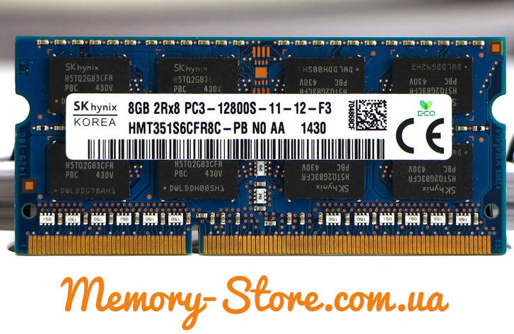 Оперативная память для ноутбука Hynix DDR3 8GB PC3-12800S 1600MHZ 1.5V sodimm (б/у), фото 2