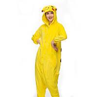 Кигуруми взрослый Пикачу желтый