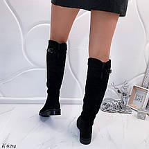 Высокие сапоги на низком каблуке, фото 2