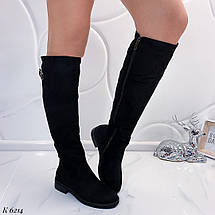 Высокие сапоги на низком каблуке, фото 3