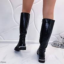 Кожаные сапоги без каблука, фото 2