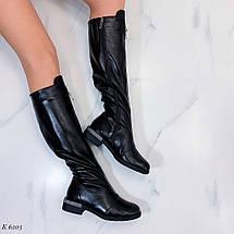Кожаные сапоги без каблука, фото 3