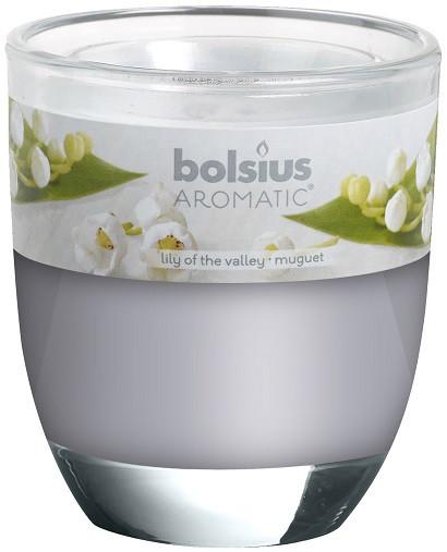 Свеча ароматическая в стекле ландыш Bolsius (57440)