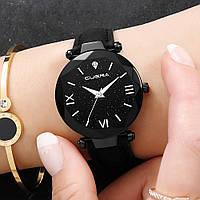 Черные женские кварцевые часы