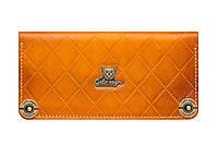 Кошелек кожаный, бумажник Gato Negro Alfa-X Orange ручной работ